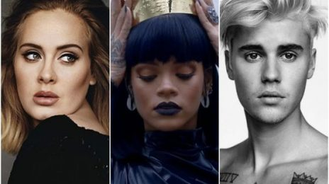 Adele, Rihanna, and Justin Bieber Join Forces For New Hot 100 Record