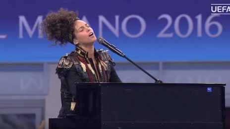 Did You Miss It? Alicia Keys Performs Medley At UEFA Cup Final