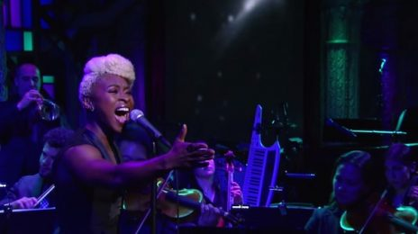 'Color Purple' Star Cynthia Erivo Soars With 'I'm Here' On 'Colbert'