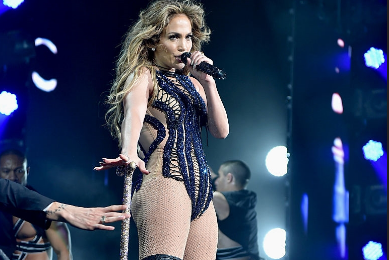 Hot Shots: Jennifer Lopez Performs At The Qatar Airways Atlanta Press Conference