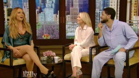 Watch: Mariah Carey Visits 'Live With Kelly' / Throws Subliminal Jab At J.Lo?