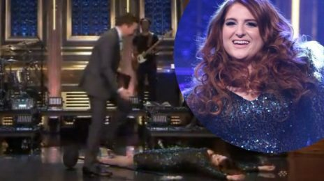 Ouch! Meghan Trainor Takes A Tumble On 'Fallon'