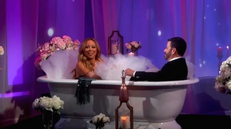 Watch: Mariah Carey Interviewed By Kimmel...In The Bath