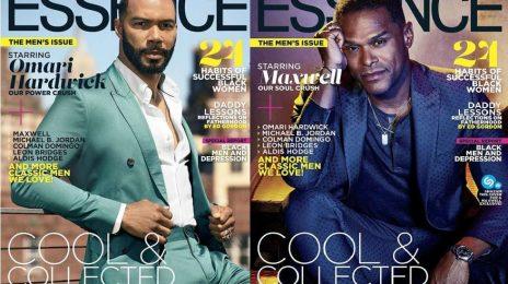 Maxwell & Omari Hardwick Cover Essence
