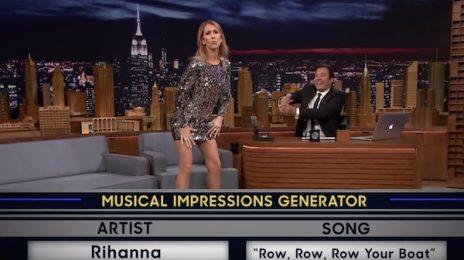 Celine Dion Impersonates Rihanna, Cher, & More On 'Fallon'