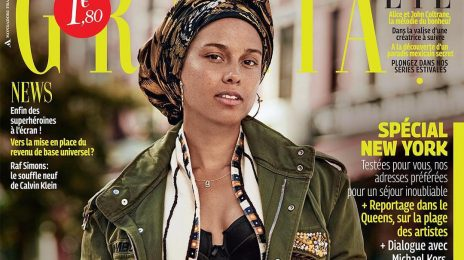 Alicia Keys Covers Grazia Make-Up Free