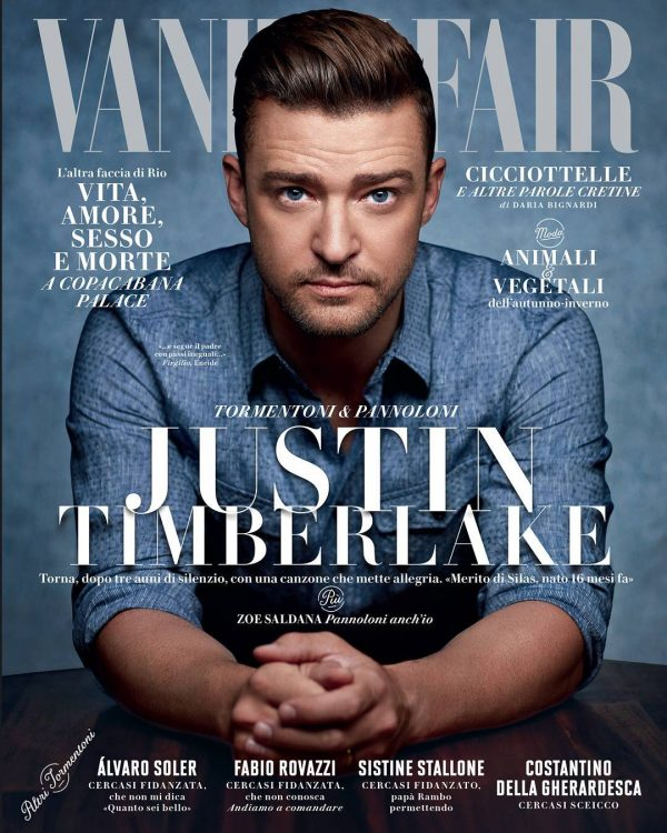 Justin Timberlake Covers 'Vanity Fair Italia' - That Grape ... Justin Timberlake Can T Stop The Feeling