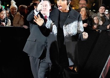 Hot Shots: Jennifer Hudson Shimmers In The Rain At 'The Voice UK' Launch