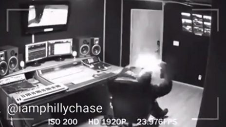Surveillance Footage Captures Moment Cell Phone Exploded In CeeLo Green's Face
