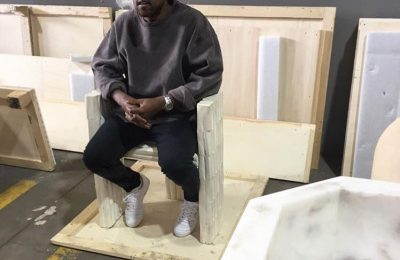 Kanye West Makes First Appearance After Hospitalization At Art Gallery