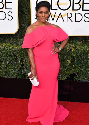 Mandatory Credit: Photo by REX/Shutterstock (7734773ck) Angela Bassett 74th Annual Golden Globe Awards, Arrivals, Los Angeles, USA - 08 Jan 2017