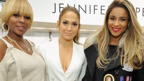 Hot Shots: Jennifer Lopez Joined By Ciara & Mary J. Blige At Giuseppe Shoe Line Launch