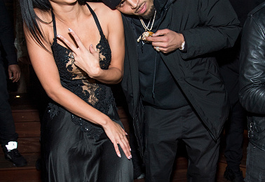 Draya Michele & Chris Brown Party At The 'Liaison Lounge'