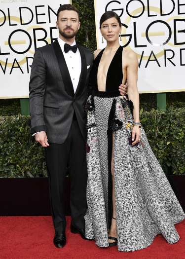 Mandatory Credit: Photo by Rob Latour/REX/Shutterstock (7734777do) Justin Timberlake and Jessica Biel 74th Annual Golden Globe Awards, Arrivals, Los Angeles, USA - 08 Jan 2017