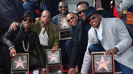 New Edition Receives Star On The Hollywood Walk of Fame