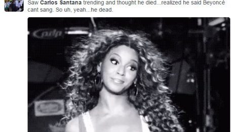 Carlos Santana:  Beyonce's Grammy Snub Was Justified Because She 'Can't Sing'