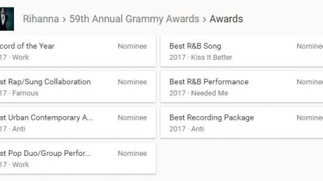 Rihanna Makes Grammy History For Most Nominations With No Wins