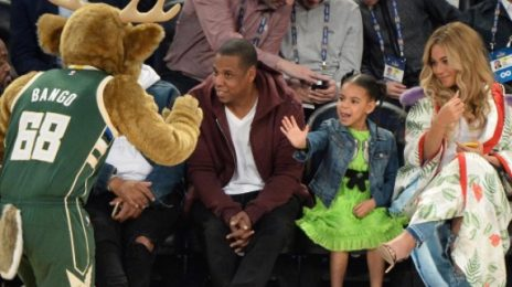 Hot Shots: Beyonce, Jay Z, & Blue Ivy Spotted At NBA All-Star Game
