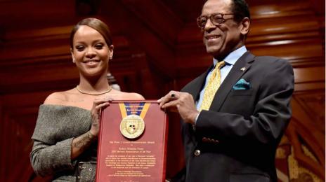 Rihanna Accepts Harvard's Humanitarian of the Year Award