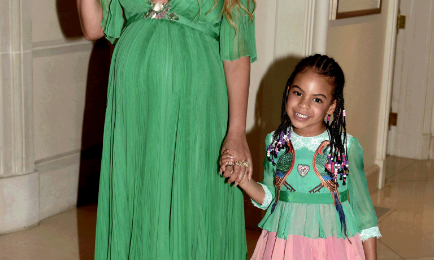 Beyonce & Blue Ivy Step Out For 'Beauty & The Beast'