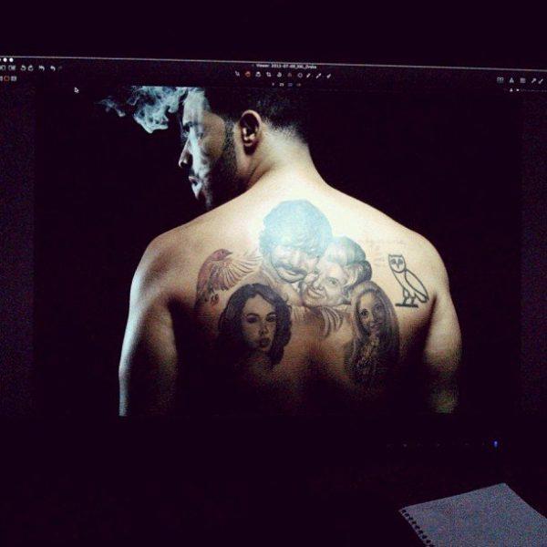 drake gets sade tattoo on torso that grape juice