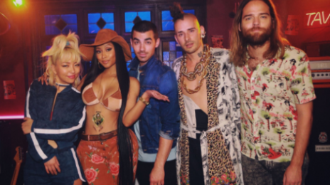 Nicki Minaj & DNCE Team Up For 'Kissing Strangers'