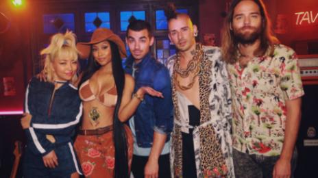 Nicki Minaj & DNCE Team Up For 'Kissing Strangers'