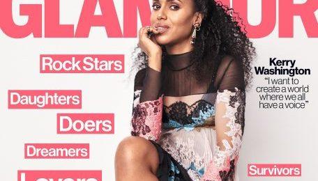 Hot Shots:  Kerry Washington Covers 'Glamour' [May 2017]
