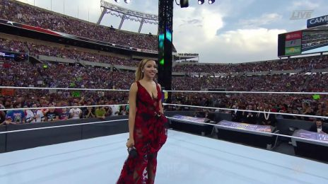 Watch: Tinashe Performs 'America The Beautiful' At  WWE Wrestlemania