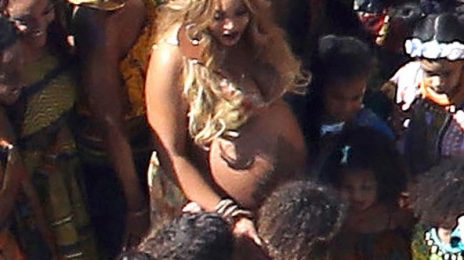 First Look: Beyonce Bares Bump At Pump Party