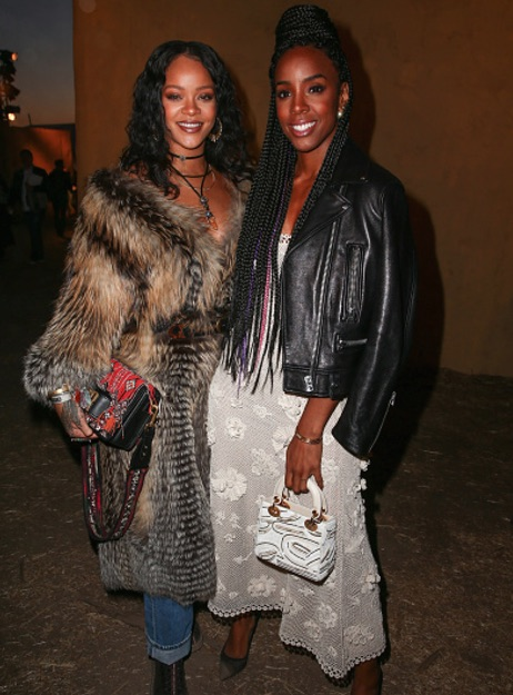 2d2f124dabc1 Hot Shots  Rihanna   Kelly Rowland Dazzle Together At Dior Show ...