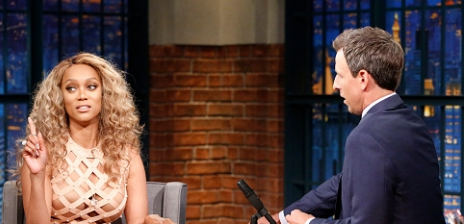Watch: Tyra Banks Talks Motherhood & Modelling On 'Seth Meyers'