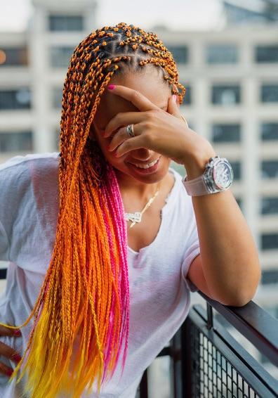 Alicia Keys Debuts New Orange Hair Do That Grape Juice