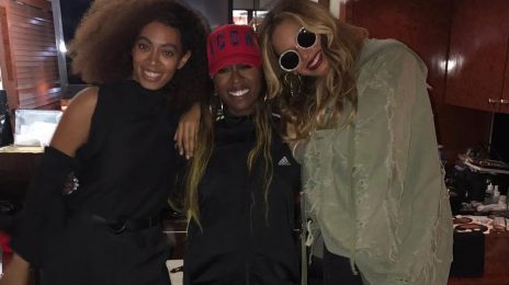 Hot Shot: Beyonce & Solange All Smiles With Missy Elliott After FYF Fest