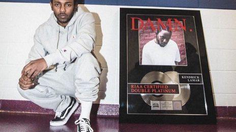 Kendrick Lamar's 'DAMN' Album Certified Double Platinum