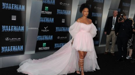 Hot Shots: Rihanna Pretty In Pink At 'Valerian' Premiere