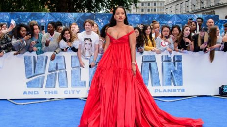 Hot Shots: Rihanna Serves Regal Red At 'Valerian' London Premiere