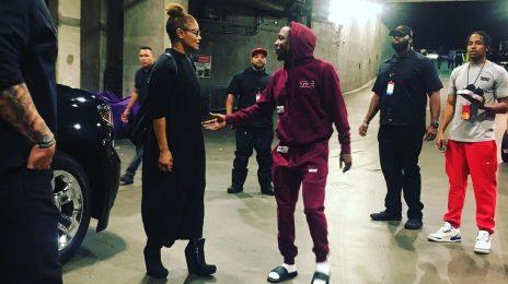 Hot Shot: Janet Jackson Meets Kendrick Lamar At 'The DAMN Tour'