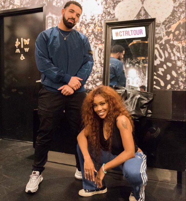 Hot shots drake sza pose it up at the ctrl tour that grape juice szas soulful and relatable brand of rb has earned her a host of new fans a list that includes many of her music industry peers m4hsunfo