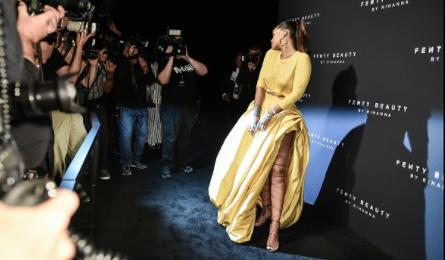 Rihanna & Joanne The Scammer Launch 'Fenty Beauty' In NYC