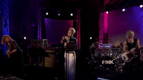Stellar! Pink Soars With Stunning Cover Of Sam Smith's 'Stay With Me' On BBC Live Lounge