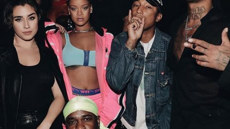 Hot Shots: Rihanna Hangs With Pharrell, Fifth Harmony Star, & Ty Dolla $ign At FENTY x Puma Show