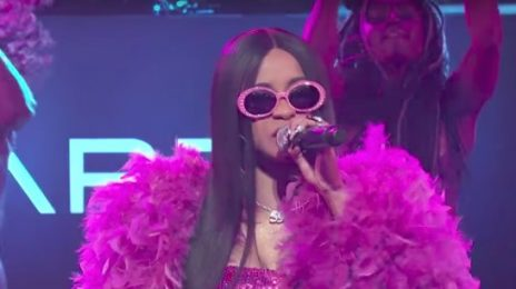Did You Miss It?  Cardi B Blazes 'Kimmel' With Cinematic 'Bodak Yellow' Performance