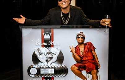 Bruno Mars Honored With Special RIAA Plaque Saluting Multiple '24k Magic' Achievements