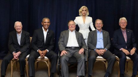 Watch: Lady Gaga Given Standing Ovation From Five Former US Presidents [Performance]