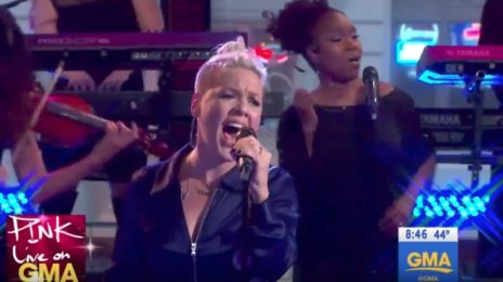 Watch: Pink Performs On 'Good Morning America'