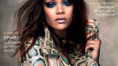 Rihanna Scorches Vogue Arabia Cover