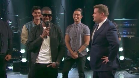 Watch: Usher Re-Surfaces On 'Corden' (No Mention Of Scandal)