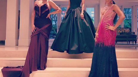 Hot Shots: Ciara, Kelly Rowland, & LaLa Serve Championship Slay At Serena Williams Wedding