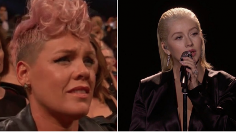 "P!nk Clears Up Christina Aguilera ""Shade"" Around the #AMAs Whitney Houston Tribute"